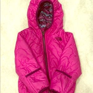 Reversible north face girls down jacket
